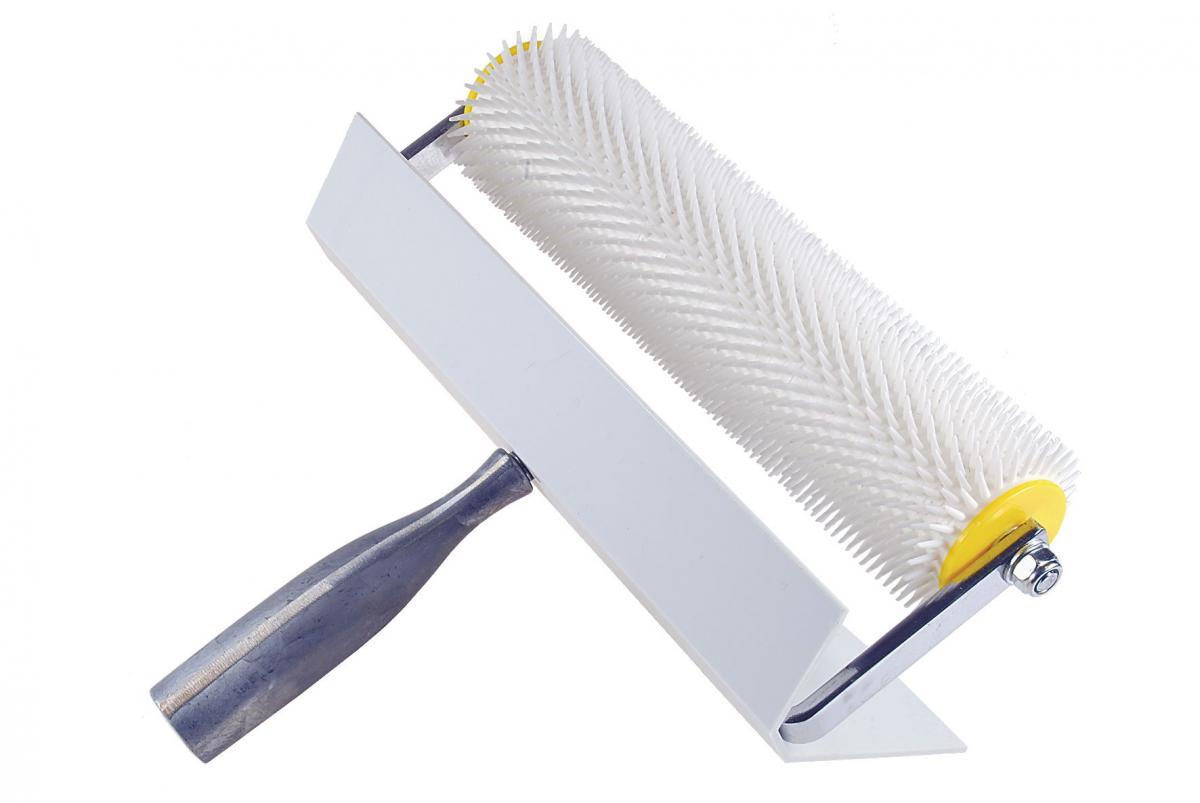 Stachel-Entlüftungsrolle / Stachelwalze | mit Spritzschutz (Schwan) 21 mm | 250 mm