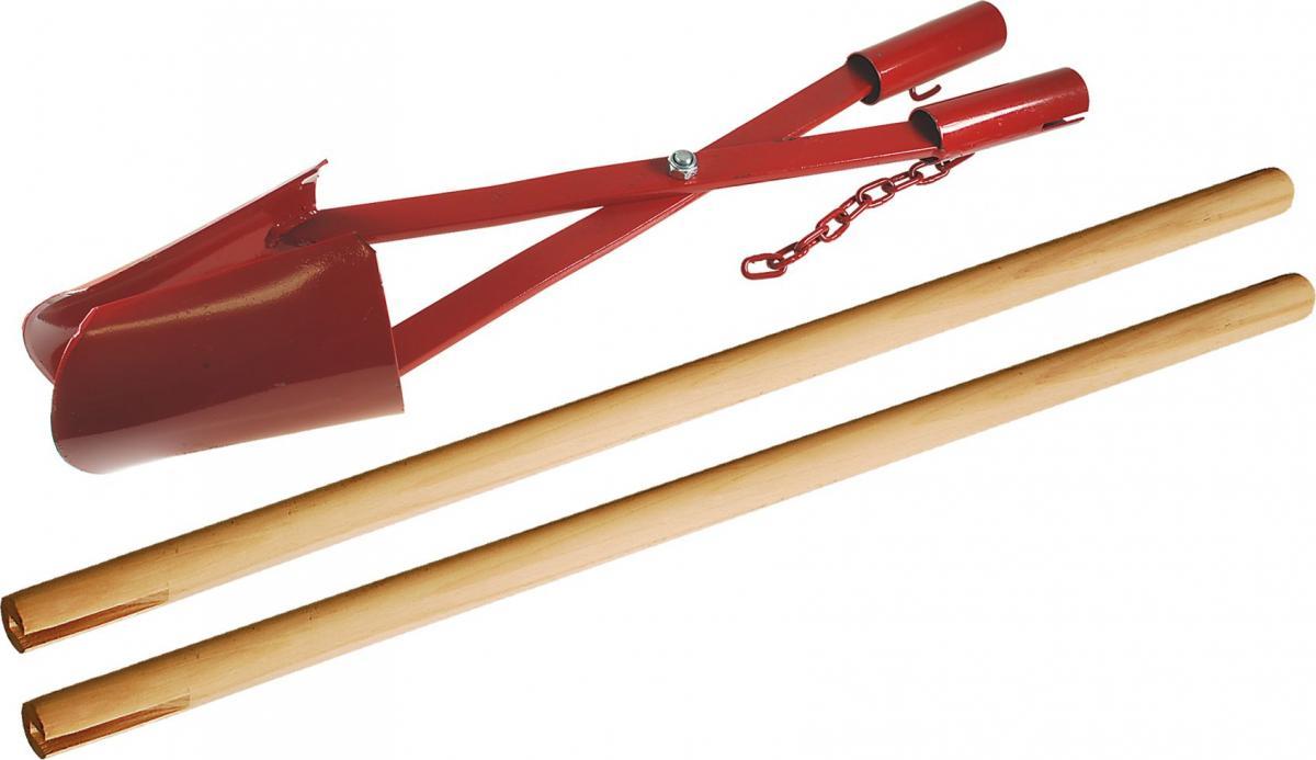Erdlochausheber | stabile Ausführung, Ø 120 - 300 mm, angeschliffene Schaufelblätter (Schwan)