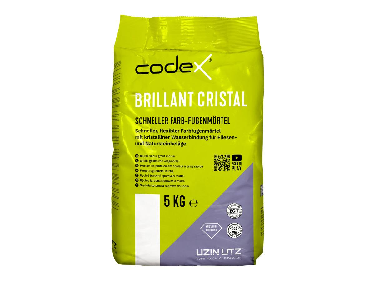 Farbfugenmörtel | schnell abbindend, 1 - 8 mm, 5KG (codex Brillant Cristal)