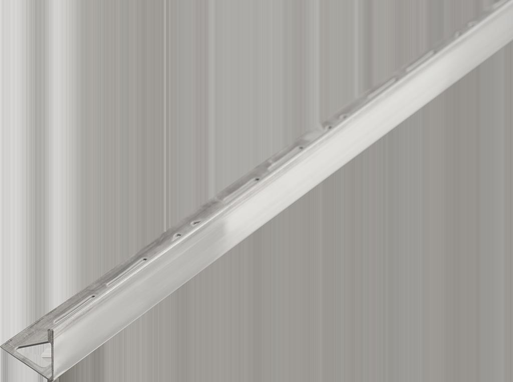 Winkelabschluss-Profil | 2,5 m, Edelstahl V2A, geschliffen