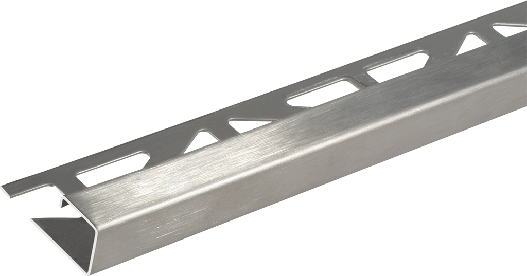 Quadro-Abschlussprofil   2,5 m, Edelstahl V2A, geschliffen